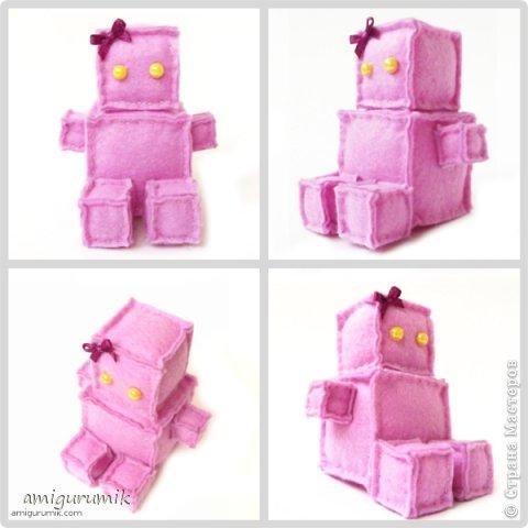 Быстро и просто - робот из фетра своими руками фото 3