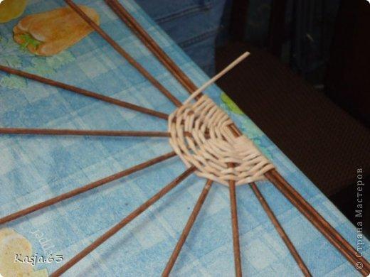 Плетение МК полукруглого дна Трубочки бумажные фото 7