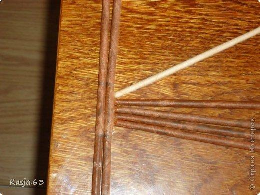 Плетение МК полукруглого дна Трубочки бумажные фото 3