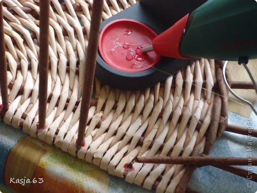 Плетение МК полукруглого дна Трубочки бумажные фото 10