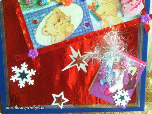 Летом хочется зимы,зимой -лета.На балконе нашла коробку из-под конфет и сделала новогоднюю коробочку для секретиков. фото 4