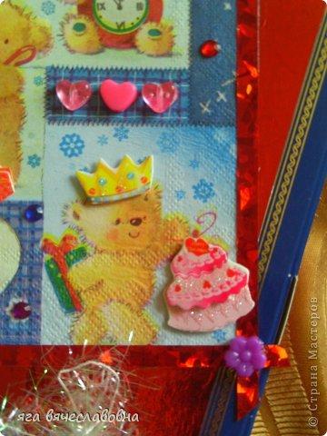 Летом хочется зимы,зимой -лета.На балконе нашла коробку из-под конфет и сделала новогоднюю коробочку для секретиков. фото 3