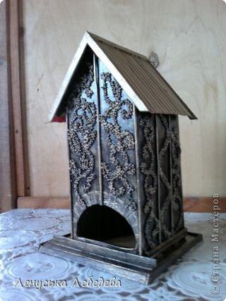 первый чайный домик! смешненький, кривокосенький, ну ничего... на дачке постоит!!!))) фото 11