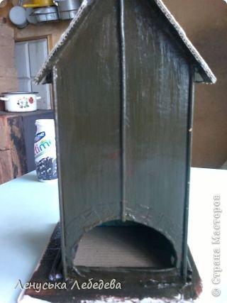 первый чайный домик! смешненький, кривокосенький, ну ничего... на дачке постоит!!!))) фото 9