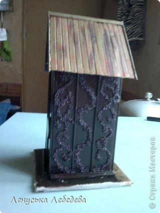 первый чайный домик! смешненький, кривокосенький, ну ничего... на дачке постоит!!!))) фото 10