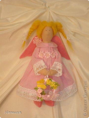 Ангелочек в стиле Тильда. Мелисса. Рост 26 см. фото 1