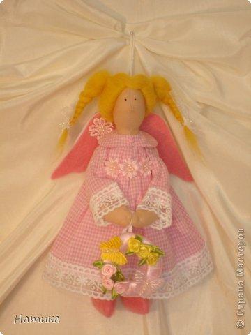 Ангелочек в стиле Тильда. Мелисса. Рост 26 см. фото 2