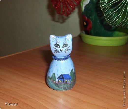 Вот такого котика слепила сестре из соленого теста - она коллекционирует котеек. домик, под звездным небом. фото 1