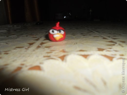 Здравствуйте!Мой мастер класс для любителей игры Angry Birds.2 птички и одна хрюшка.Начнём? фото 10