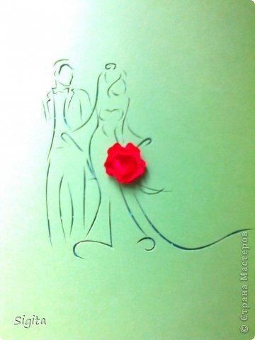 Извиняюсь за качество фото... Шаблон: http://www.123rf.com/photo_16408278_silhouette-of-bride-and-groom-background.html фото 2