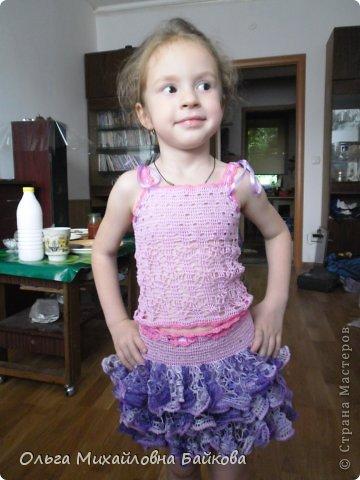 Связала для внучки костюм.Помогите со схемой для косыночки.Пожалуйста!!!! фото 12