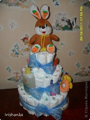Вот такой тортик я делала в свое время в подарок крестнику на крестины.  фото 1