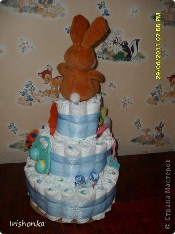 Вот такой тортик я делала в свое время в подарок крестнику на крестины.  фото 13