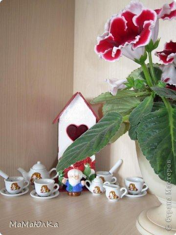 Здравствуйте! Сделала на одном дыхании этот чайный домик в подарок деверю и его жене. Дни рождения у них рядом (14 и 17 июня). Тем более недавно в семье было пополнение. Сядут все сместе за стол, чайком побалуются, вопросы серьезные порешают, а может быть просто помолчат, наслаждаясь ароматом чая.   фото 8