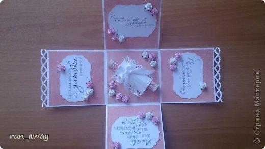 у подруги на днях была свадьба, решила в подарок сделать такую вот коробочку, правда получилась она немного скромная=) фото 4