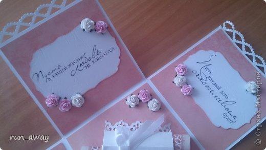 у подруги на днях была свадьба, решила в подарок сделать такую вот коробочку, правда получилась она немного скромная=) фото 6