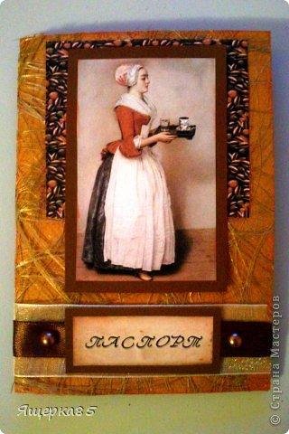 """Обложка на паспорт с распечаткой картины художника Лиотара Жан-Этьена """"Прекрасная шоколадница"""". Снимала без пластиковой обложки, чтобы не бликовало."""