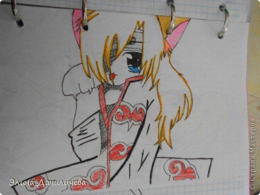 Пару дней назад наткнулась на свои тетради с рисунками... И решила ими поделиться с вами :)) Рисовать, к сожалению, я так и не научилась, но срисовываю хорошо вроде как :) Все эти рисунки - срисовки :) Я вообще любитель аниме, а раньше еще была заядлым ролевиком (ну надеюсь, все понимают, что это :))) И просто обожала рисовать персонажей, за которых я играю)  Вот одна из них - Тен-Тен (Наруто) фото 22