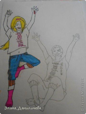 Пару дней назад наткнулась на свои тетради с рисунками... И решила ими поделиться с вами :)) Рисовать, к сожалению, я так и не научилась, но срисовываю хорошо вроде как :) Все эти рисунки - срисовки :) Я вообще любитель аниме, а раньше еще была заядлым ролевиком (ну надеюсь, все понимают, что это :))) И просто обожала рисовать персонажей, за которых я играю)  Вот одна из них - Тен-Тен (Наруто) фото 27