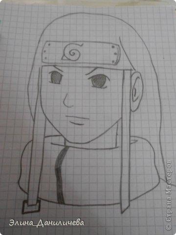 Пару дней назад наткнулась на свои тетради с рисунками... И решила ими поделиться с вами :)) Рисовать, к сожалению, я так и не научилась, но срисовываю хорошо вроде как :) Все эти рисунки - срисовки :) Я вообще любитель аниме, а раньше еще была заядлым ролевиком (ну надеюсь, все понимают, что это :))) И просто обожала рисовать персонажей, за которых я играю)  Вот одна из них - Тен-Тен (Наруто) фото 13
