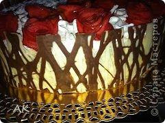 Заказали тортик. Украшения делала на свое усмотрение. Черепаха, украшен белковым кремом и розочками из яблок.  фото 2