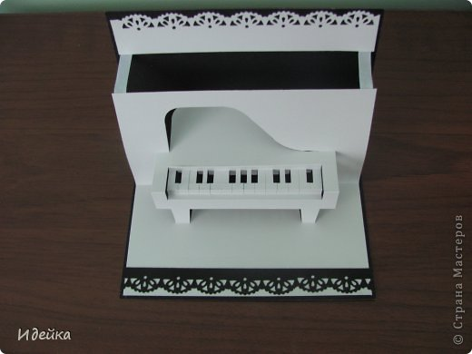 Такую открытку сделала своей знакомой, которая играет на фортепиано. фото 7