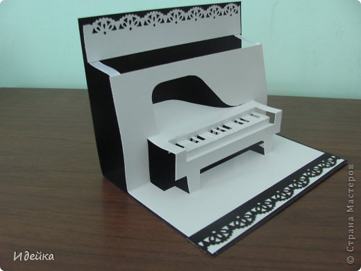 Такую открытку сделала своей знакомой, которая играет на фортепиано. фото 9