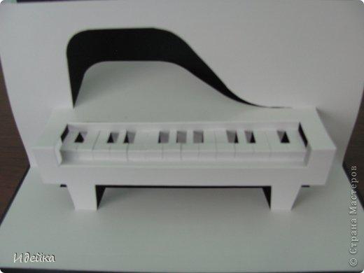 Такую открытку сделала своей знакомой, которая играет на фортепиано. фото 12