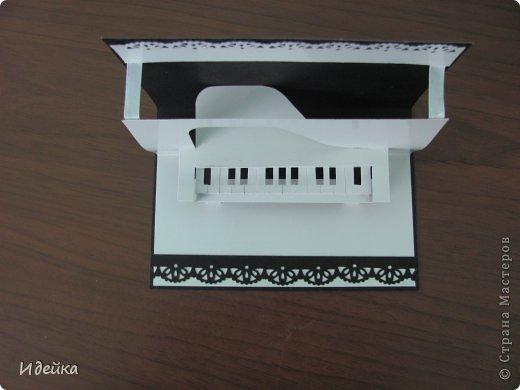 Такую открытку сделала своей знакомой, которая играет на фортепиано. фото 10