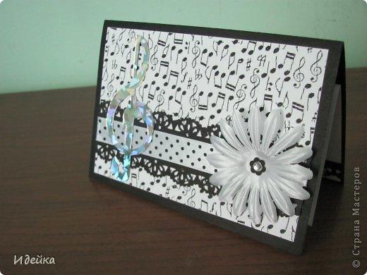 Такую открытку сделала своей знакомой, которая играет на фортепиано. фото 3