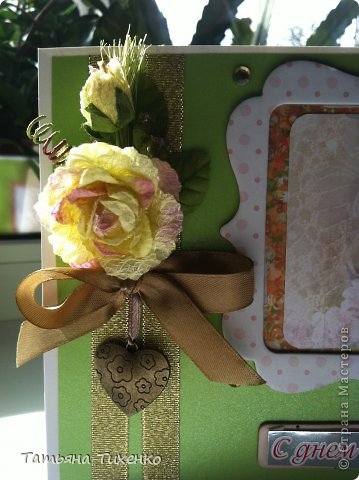 Мой вариант открытки на день рождения дочери. Внучка свою открытку уже выложила у себя   в  блоге. фото 2