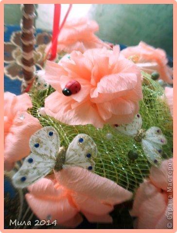 вот сделала на юбилей тете корзинку с розами))))ей очень понравилось) фото 3