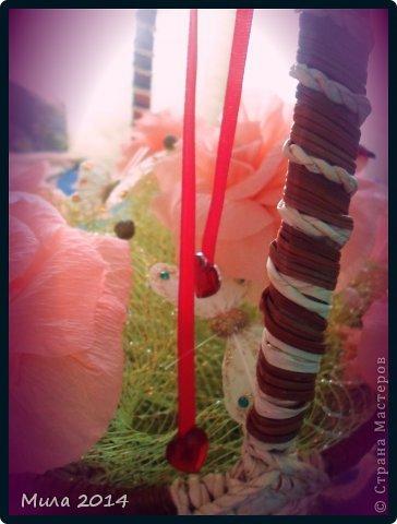 вот сделала на юбилей тете корзинку с розами))))ей очень понравилось) фото 5