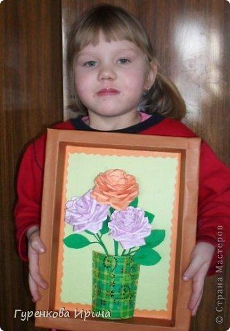 Розы делала в садик для подруги, точнее - дочке её, украшать группу к 8 марта. А яйцо подарила врачу, я с дочкой каждый год лежим в больнице  (в реабелитационом центре).  фото 38