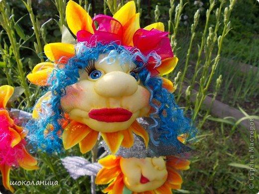 Букет подсолнухов,это самый маленький  цветочек! фото 3