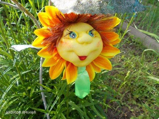 Букет подсолнухов,это самый маленький  цветочек! фото 1