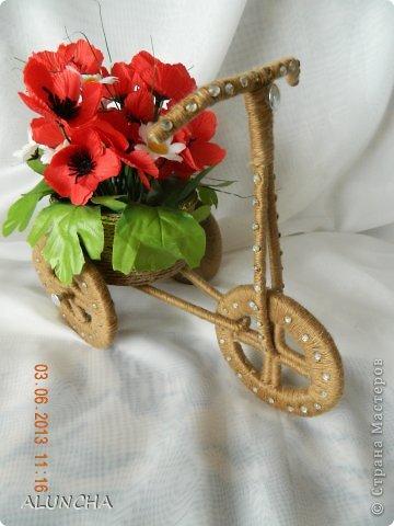Я тоже сделала велосипедик-кашпо по МК Sjusen...Уж очень мне он понравился...МК очень доступный и понятный..Советую всем ... фото 4