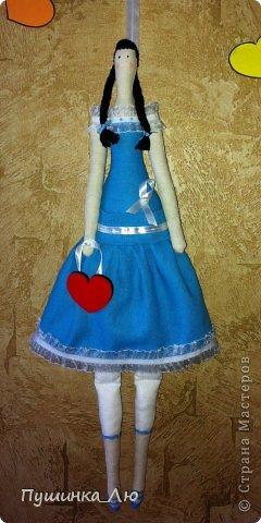 Вот родилась у меня еще одна Тильдочка))) На это раз в голубом платье. фото 1