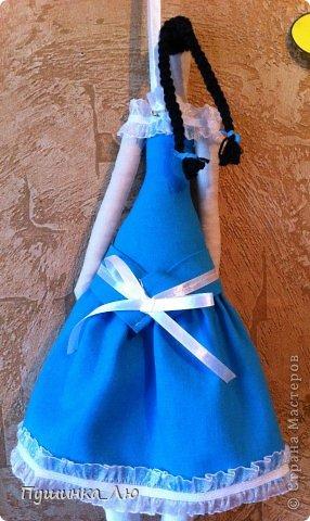 Вот родилась у меня еще одна Тильдочка))) На это раз в голубом платье. фото 3