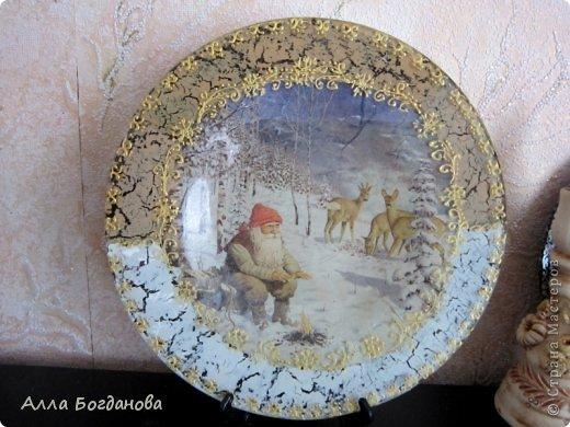 Зимняя тарелочка фото 1