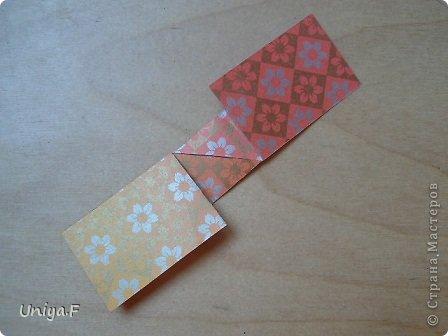 """Здравствуйте!  Следующий МК из серии """"Цветущие ленты"""".  Name: Senorita collection """"Ribbon Flowers""""  Designer: Uniya Filonova  Units: 30  Paper: 3*15 cm (1:5) Final height: ~ 9,5 cm  Joint: no glue фото 8"""