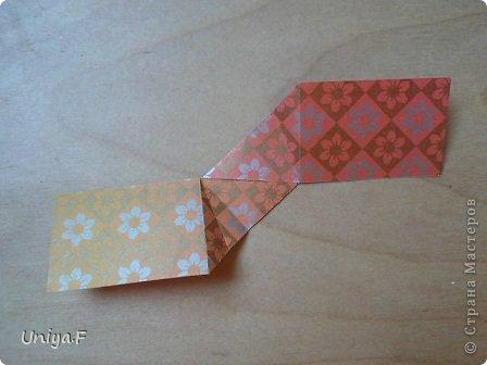 """Здравствуйте!  Следующий МК из серии """"Цветущие ленты"""".  Name: Senorita collection """"Ribbon Flowers""""  Designer: Uniya Filonova  Units: 30  Paper: 3*15 cm (1:5) Final height: ~ 9,5 cm  Joint: no glue фото 10"""