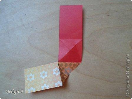 """Здравствуйте!  Следующий МК из серии """"Цветущие ленты"""".  Name: Senorita collection """"Ribbon Flowers""""  Designer: Uniya Filonova  Units: 30  Paper: 3*15 cm (1:5) Final height: ~ 9,5 cm  Joint: no glue фото 11"""