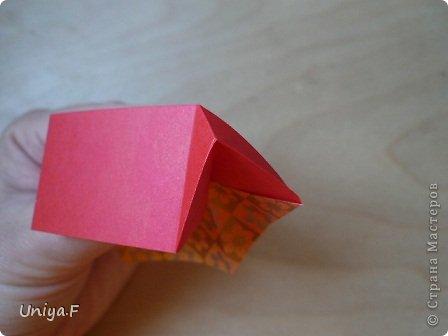 """Здравствуйте!  Следующий МК из серии """"Цветущие ленты"""".  Name: Senorita collection """"Ribbon Flowers""""  Designer: Uniya Filonova  Units: 30  Paper: 3*15 cm (1:5) Final height: ~ 9,5 cm  Joint: no glue фото 13"""
