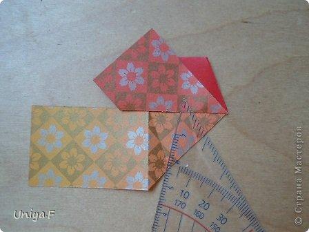 """Здравствуйте!  Следующий МК из серии """"Цветущие ленты"""".  Name: Senorita collection """"Ribbon Flowers""""  Designer: Uniya Filonova  Units: 30  Paper: 3*15 cm (1:5) Final height: ~ 9,5 cm  Joint: no glue фото 15"""