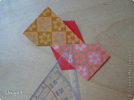 """Здравствуйте!  Следующий МК из серии """"Цветущие ленты"""".  Name: Senorita collection """"Ribbon Flowers""""  Designer: Uniya Filonova  Units: 30  Paper: 3*15 cm (1:5) Final height: ~ 9,5 cm  Joint: no glue фото 16"""