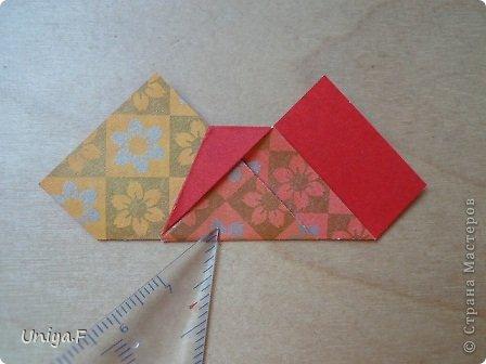 """Здравствуйте!  Следующий МК из серии """"Цветущие ленты"""".  Name: Senorita collection """"Ribbon Flowers""""  Designer: Uniya Filonova  Units: 30  Paper: 3*15 cm (1:5) Final height: ~ 9,5 cm  Joint: no glue фото 17"""