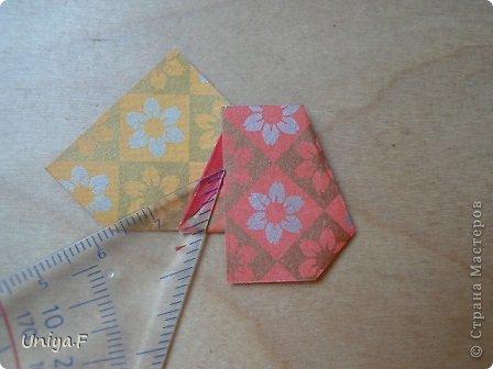"""Здравствуйте!  Следующий МК из серии """"Цветущие ленты"""".  Name: Senorita collection """"Ribbon Flowers""""  Designer: Uniya Filonova  Units: 30  Paper: 3*15 cm (1:5) Final height: ~ 9,5 cm  Joint: no glue фото 18"""