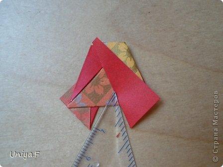 """Здравствуйте!  Следующий МК из серии """"Цветущие ленты"""".  Name: Senorita collection """"Ribbon Flowers""""  Designer: Uniya Filonova  Units: 30  Paper: 3*15 cm (1:5) Final height: ~ 9,5 cm  Joint: no glue фото 19"""