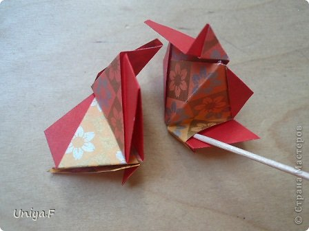 """Здравствуйте!  Следующий МК из серии """"Цветущие ленты"""".  Name: Senorita collection """"Ribbon Flowers""""  Designer: Uniya Filonova  Units: 30  Paper: 3*15 cm (1:5) Final height: ~ 9,5 cm  Joint: no glue фото 23"""